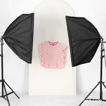 两灯柔光箱摄影棚小型摄影棚摄影灯套装组合便携式摄影柔光箱