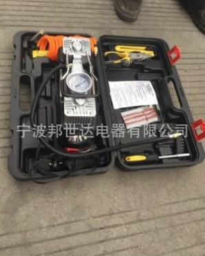 DC12V 充气泵随车工具箱 组合应急工具 车载充气泵 补胎工具