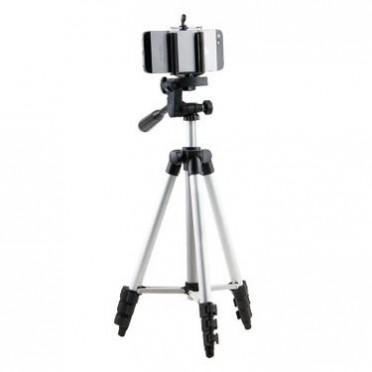 106CM轻型数码照相机三角架 手机自拍直播支架铝合金三脚架厂家