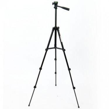 浙江厂家供黑色三脚架四节3110铝合金三角架拍照直播相机三脚架