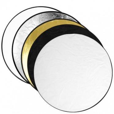 摄影器材-60五合一圆形便携可折叠反光板 室内补光板