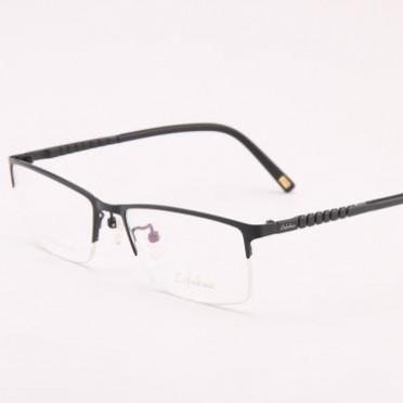 新款纯钛 超轻弹腿不变形 商务半框钛板眼镜架男 近视眼镜框