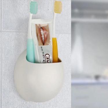 创意沥水强力吸盘牙刷架
