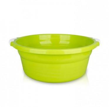 加厚耐摔家用塑料盆 婴儿脸盆 洗菜洗衣盆水盆 圆形把手盆