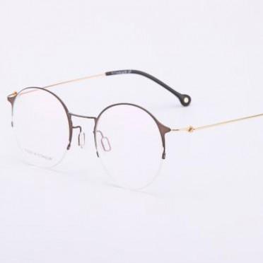 新款纯钛眼镜架 个性复古眼镜框 男女情侣近视高端无螺丝