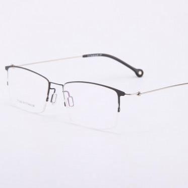 新款钛架眼镜 时尚个性超轻近视眼镜框 高端男款商务无螺丝