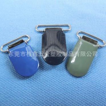 厂家专业生产服饰配件 金属环保烤漆鸭嘴夹 表面光亮
