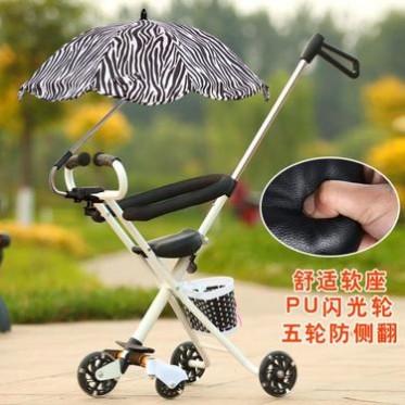 可折叠五轮遛娃神器 闪光轮儿童便携式不带刹车儿童手推车批发