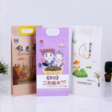 河北大米袋厂家杂粮米面食品复合包装袋注塑手提大米袋双硕定制彩印