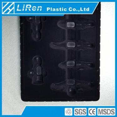 东莞吸塑厂 定制 黑色五金pvc塑料包装盒泡壳泡罩 植绒吸塑