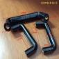 [兴松兴]L120黑色光面椭圆带铜芯孔牙电木拉手 机床门胶木拉手