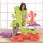 厂家直销低价批发卡通彩色壁虎公仔大号毛绒玩具抱枕靠垫蜥蜴公仔