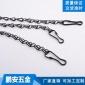供应花盆吊链 吊灯铁链 三条组花篮吊链 装饰挂链 侧边开口铁链