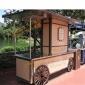工厂实拍售货车 批量生产定制户外木质售货亭 公园可移动餐车